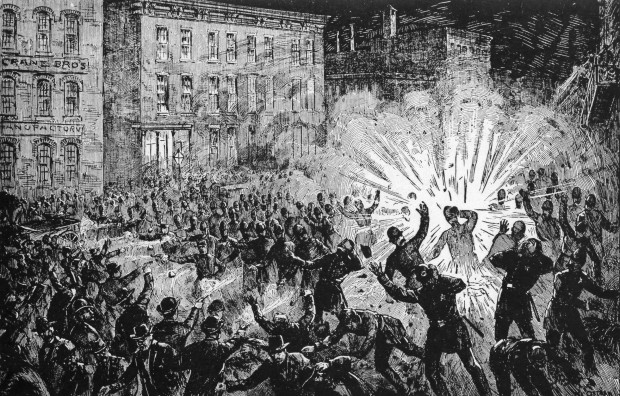 The Haymarket Square bomb, 1886