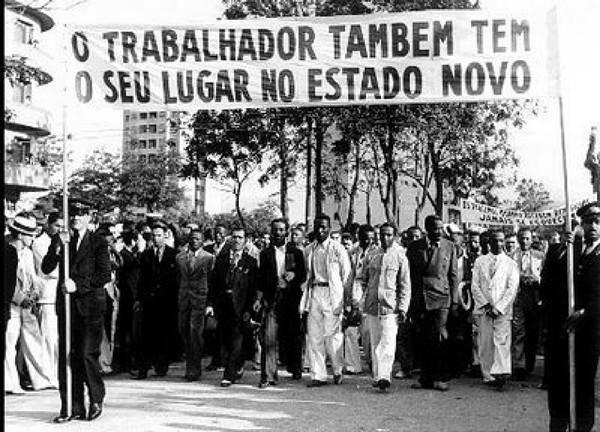 Trabalhadores homenageiam Vargas em 1940