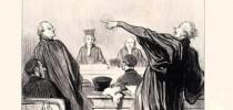 """""""Um advogado que evidentemente está repleto da mais íntima convicção que seu cliente o pagará bem."""" (Daumier - """"Le Gens de Justice"""" - 1845)"""