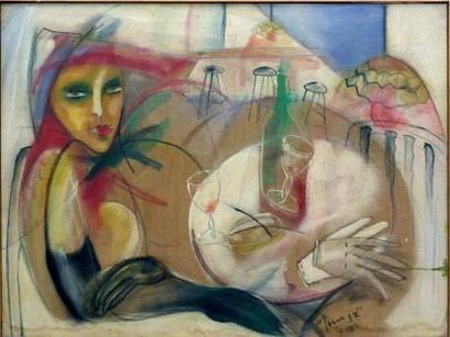 UNE DAME  Peinture  Huile/toile 80x100cm Berlin nouvelle Édition by ETHEL MUNIZ