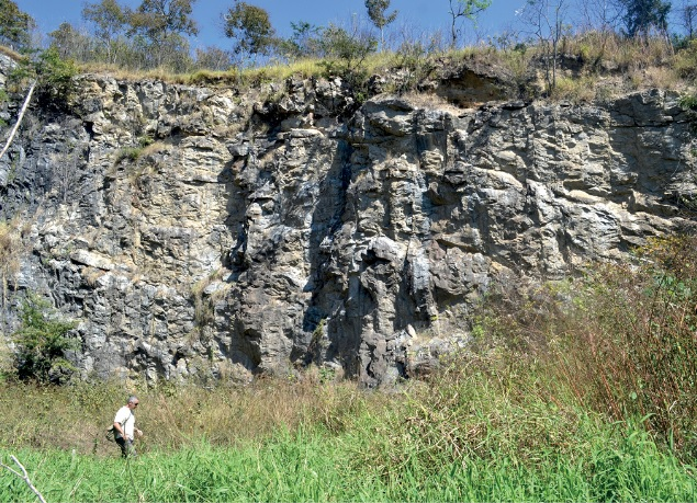 Amparo | As rochas mais antigas do estado: Os chamados migmatitos foram formados sobre intensa pressão e temperatura, têm cerca de 3 bilhões de anos e estão em uma pedreira abandonada Close