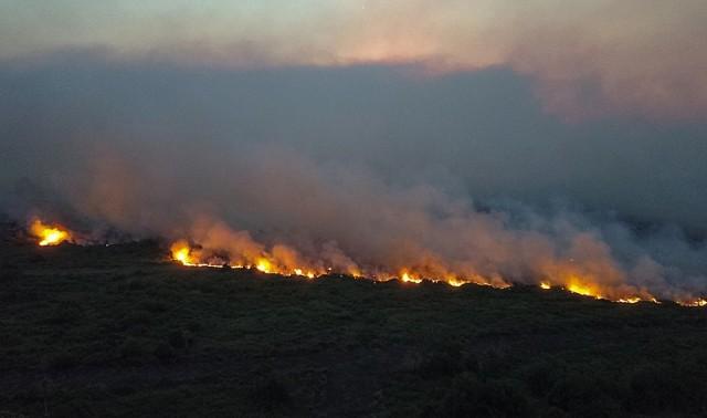 Foto do município de Corumbá, localizado na divisa entre Mato Grosso do Sul e Bolívia, o mais afetado pelos focos de incêndio (Imagem das queimadas em 2019) - Foto: Chico Ribeiro/Governo do MS