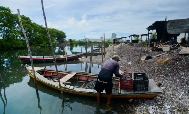 Pesca artesanal e coleta dos moluscos sustentam os cerca de dois mil moradores da comunidade da Ilha de Deus - Foto: Arthur de Sou