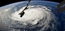 Furacão Florence visto da Estação Espacial Internacional (BBC)