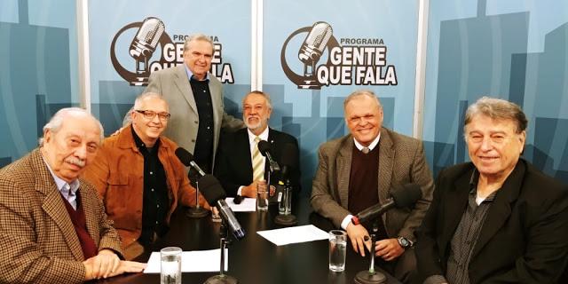 Da esquerda para a direita: Almino Affonso, Antonio Fernando Pinheiro Pedro, Fausto Camunha, Zancopé Simões, José Helton Nogueira Diefenthäler e Waldir Ferreira