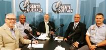 Da esquerda para a direita: Antonio Fernando Pinheiro Pedro, Major PM Sérgio Marques, Zancopé Simões, Cel PM Jorge Curi, Cap PM Silva Neto