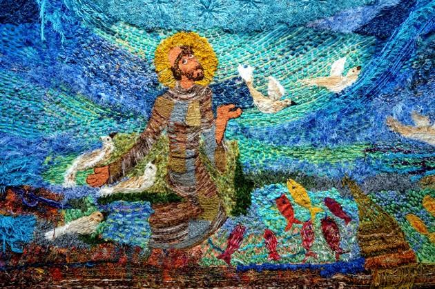 Bordado: Santo Francisco das águas e dos seres (foto Ibama)