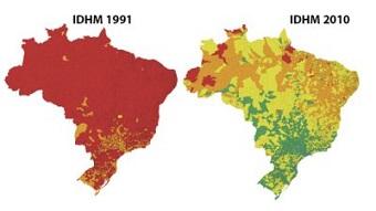 IDH dos municípios brasileiros (foto) evoluiu entre 1991 e 2010, mas desigualdade ainda persiste. (Imagem: Reprodução/Internet)