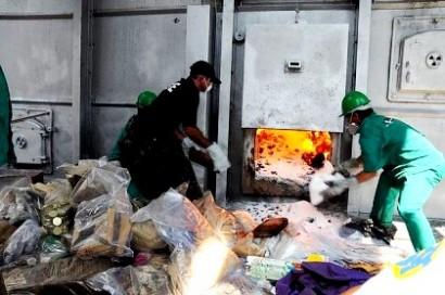 incineração abocanha material reciclável