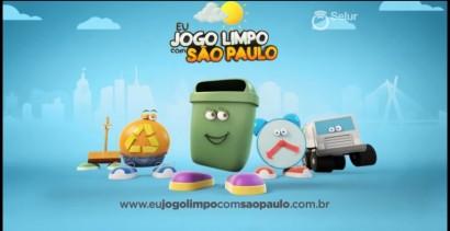 Campanha de educação ambiental da prefeitura de São Paulo.