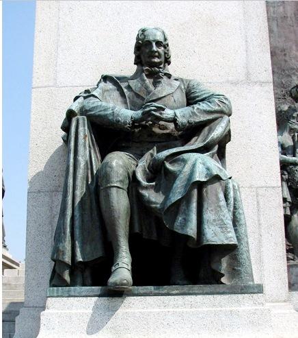 José Bonifácio de Andrada e Silva, no Monumento da Independência, SP