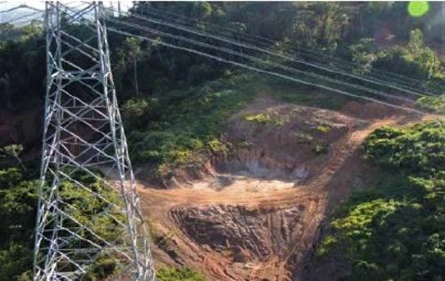 Linhão de Belo Monte e mineração ilegal - Foto: BMTW/Divulgação