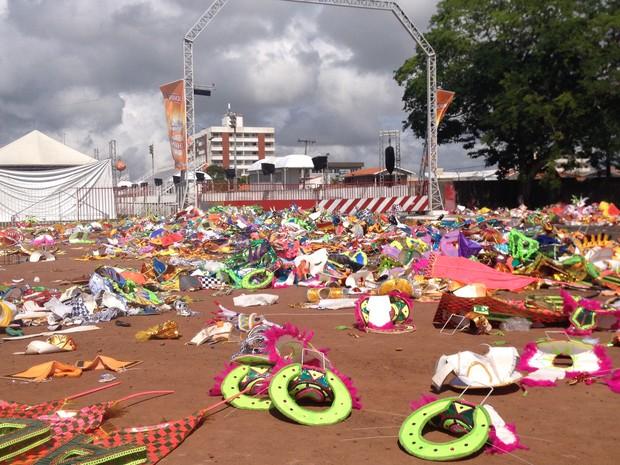 Dispersão do Sambódromo ((Foto: Jéssica Alves/G1)