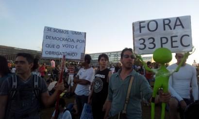 manifestações contra pecs