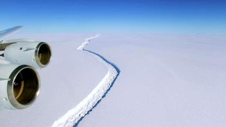 NASA Rachadura na plataforma de gelo Larsen C