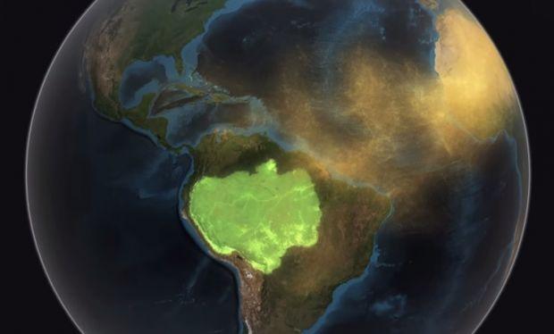 O ecossistema amazônico depende da poeira do Saara para reabastecer suas reservas de nutrientes. | Foto: Reprodução
