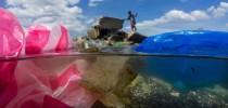 No dia internacional sem sacolas plásticas (03/07), um novo problema aparece: máscaras e luvas descartáveis estão pipocando em praias e mares. (Foto de Randy Olson/NationalGeographic)