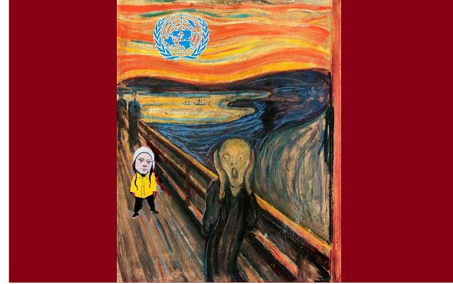 O Grito, de Edvard Munch, Greta Thunberg e a ONU... (composição-AFPP)