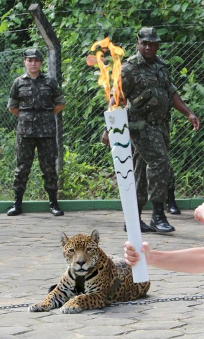 Juma no evento olímpico no Amazonas (foto deJair Araújo/D24)