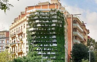 Edifício Vegitecture (foto) em Barcelona, Espanha. Projetos semelhantes poderão ser analisados mais rapidamente no Rio de Janeiro. Imagem: Reprodução/Internet