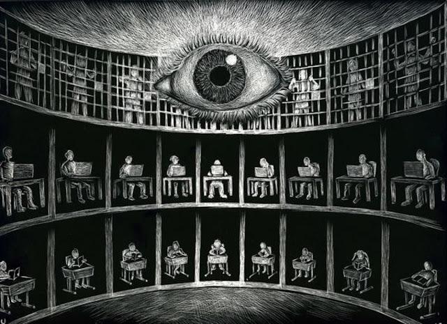 """Panopticon de Michel Ulrich - O Ministério da Verdade de George Orwell em """"1984"""""""