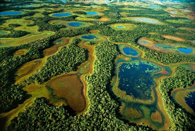 Baias e salinas na região do Rio Negro Mato Grosso do Sul maio de 2000