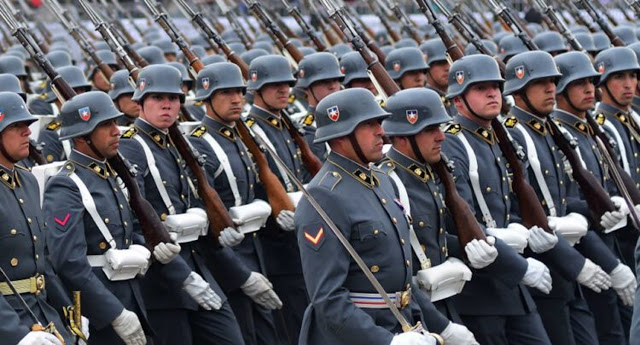 Exército chileno em desfile