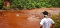 Rio Paraopeba após rompimento da barragem de Brumadinho (Lucas Hallel Ascom/Funai)