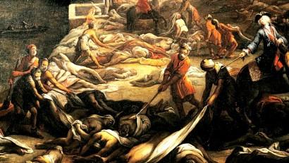 Quadro retratando a peste negra
