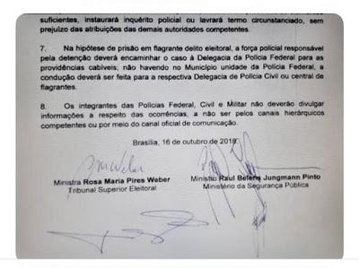 Censura explícita em nome da Ordem Pública eleitoral...