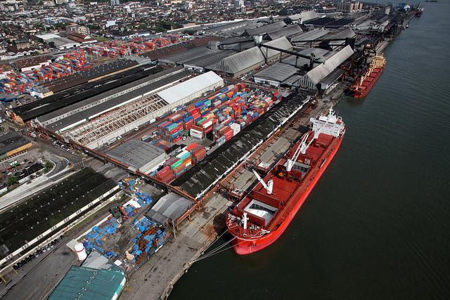 Porto de Santos - banco de imagens Codesp