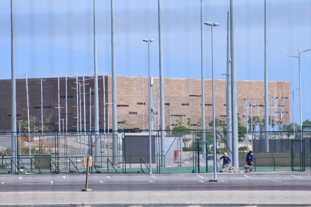Arena do Futuro ainda não foi desmontada (Foto: Thierry Gozzer)