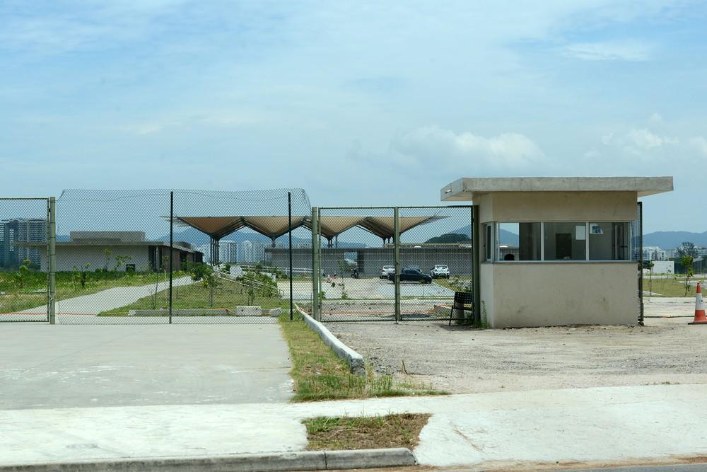 Campo de golfe olímpico tem entrada controlada (Foto: André Durão) Campo de golfe olímpico tem entrada controlada (Foto: André Durão)