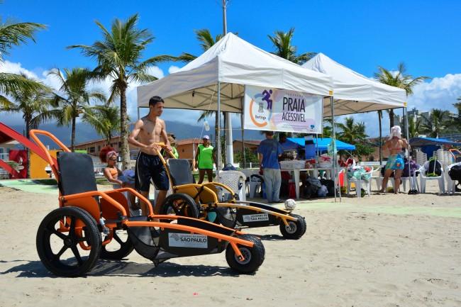 Praia de Bertioga a primeira no ranking de acessibilidade.