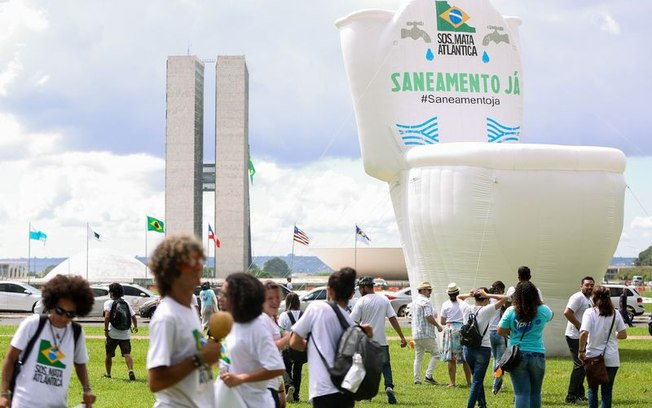 Segundo a SOS Mata Atlântica, a mobilização visa chamar a atenção da sociedade e autoridades (foto Marcelo Camargo/Agência Brasil)