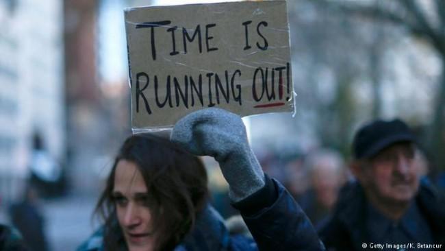 Protesto contra mudanças climáticas nos EUA