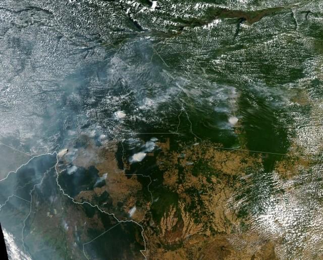 Região Amazônica - imagem de satélite
