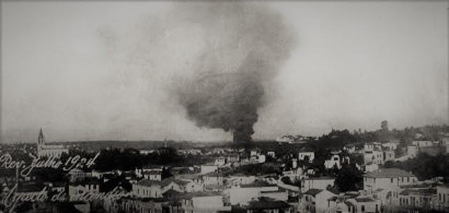 São Paulo sob bombardeio de artilharia