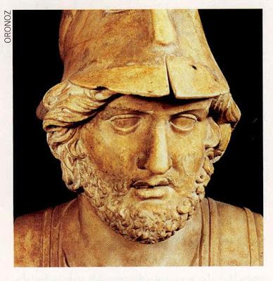 Temístocles, o Grande General que comandou a Resistência contra os Persas.Era o Chefe da Polícia das Águas, em Atenas.