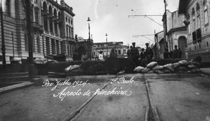 Revolta Paulista de 1924- trincheira