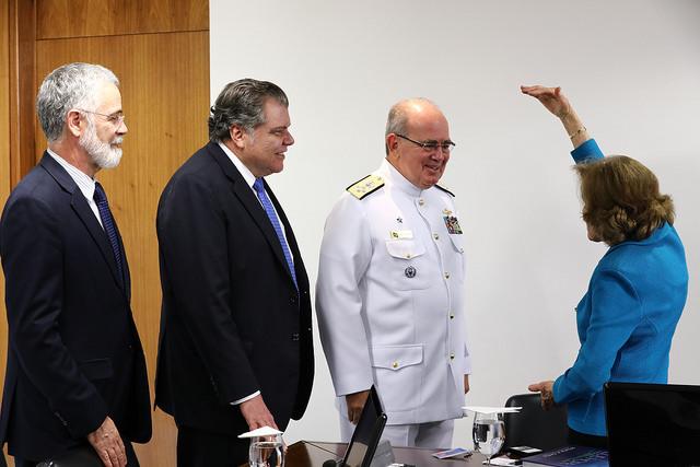 Sylvia Earle em reunião com o governo federal brasileiro (Foto: Gilberto Soares/MMA)
