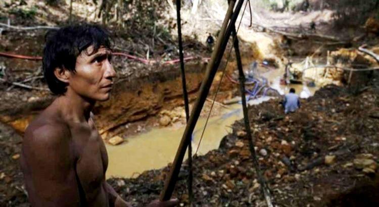 Garimpo em área Yanomami